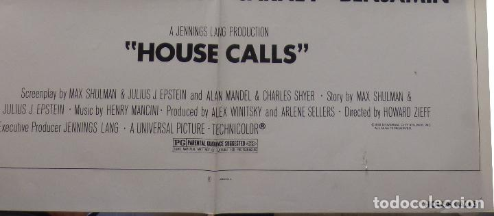 Cine: Póster de la película House Calls, Doblado, Original, 1978, Walter Matthau - Foto 6 - 135504954