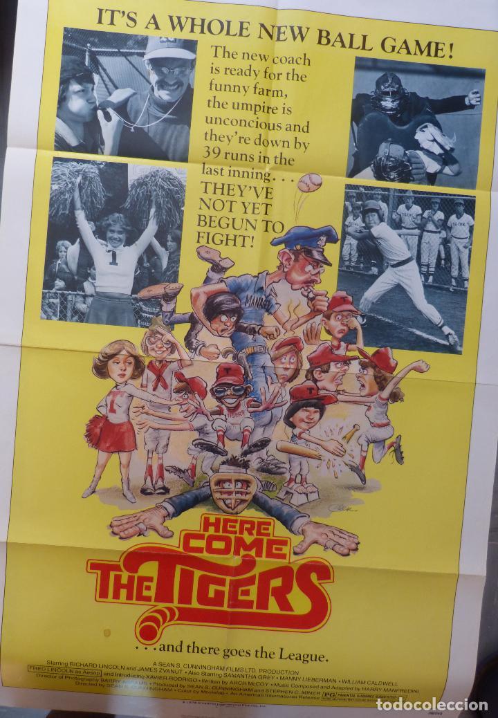 Cine: Póster de la película Here Come the Tigers , 1978 27x 41 pulgadas, original, doblado - Foto 4 - 135505518
