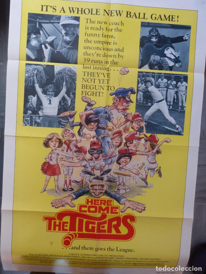 Cine: Póster de la película Here Come the Tigers , 1978 27x 41 pulgadas, original, doblado - Foto 6 - 135505518