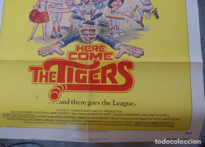 Cine: Póster de la película Here Come the Tigers , 1978 27x 41 pulgadas, original, doblado - Foto 7 - 135505518