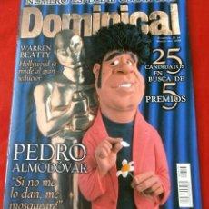 Cine: DOMINICAL - ESPECIAL OSCAR 2000 - LOS 25 CANDIDATOS - PEDRO ALMODOVAR - WARREN BEATTY (MARZO 2000). Lote 135633319