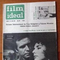 Cine: FILM IDEAL 96, MAYO 1962. TORRE NILSSON. JAVIER AGUIRRE. FRANCISCO RABAL. Lote 135639663