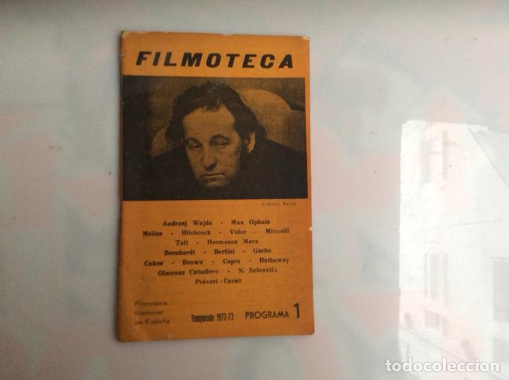 FILMOTECA. - TEMPORADA 1972-73 PROGRAMA 1 (Cine - Revistas - Otros)