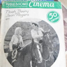 Cine: ANTIGUO LIBRITO PUBLICACIONES CINEMA - NUMERO 12 - NOAH BERRY JENA RIGERS - EN LA MARCA DE CAIN. Lote 135760366