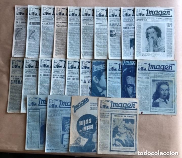 IMAGEN, NOTICIARIO SEMANAL CINEMATOGRÁFICO (AÑOS 40, BILBAO). LOTE DE 24 NÚMEROS. (Cine - Revistas - Otros)