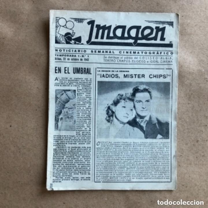 Cine: IMAGEN, NOTICIARIO SEMANAL CINEMATOGRÁFICO (AÑOS 40, BILBAO). LOTE DE 24 NÚMEROS. - Foto 2 - 135806454