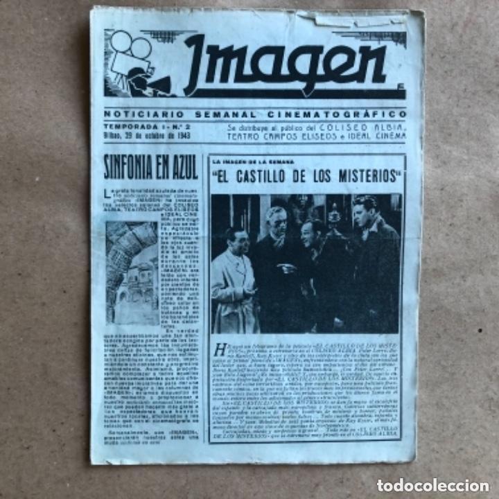 Cine: IMAGEN, NOTICIARIO SEMANAL CINEMATOGRÁFICO (AÑOS 40, BILBAO). LOTE DE 24 NÚMEROS. - Foto 4 - 135806454