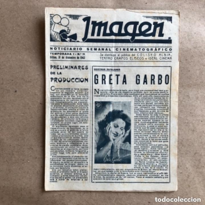 Cine: IMAGEN, NOTICIARIO SEMANAL CINEMATOGRÁFICO (AÑOS 40, BILBAO). LOTE DE 24 NÚMEROS. - Foto 5 - 135806454