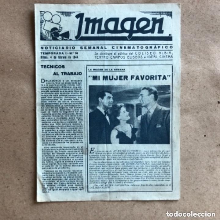 Cine: IMAGEN, NOTICIARIO SEMANAL CINEMATOGRÁFICO (AÑOS 40, BILBAO). LOTE DE 24 NÚMEROS. - Foto 6 - 135806454