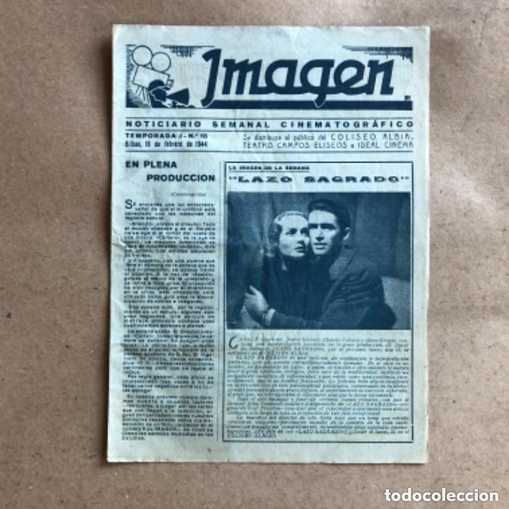 Cine: IMAGEN, NOTICIARIO SEMANAL CINEMATOGRÁFICO (AÑOS 40, BILBAO). LOTE DE 24 NÚMEROS. - Foto 7 - 135806454