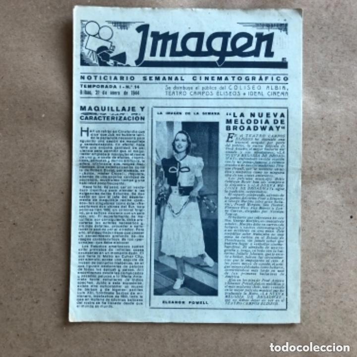 Cine: IMAGEN, NOTICIARIO SEMANAL CINEMATOGRÁFICO (AÑOS 40, BILBAO). LOTE DE 24 NÚMEROS. - Foto 8 - 135806454