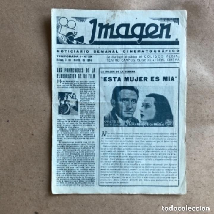 Cine: IMAGEN, NOTICIARIO SEMANAL CINEMATOGRÁFICO (AÑOS 40, BILBAO). LOTE DE 24 NÚMEROS. - Foto 9 - 135806454