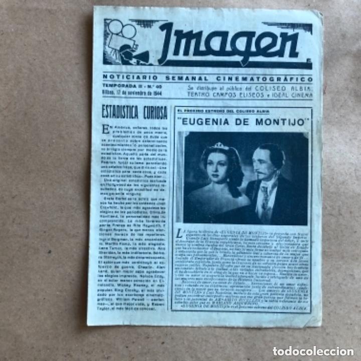 Cine: IMAGEN, NOTICIARIO SEMANAL CINEMATOGRÁFICO (AÑOS 40, BILBAO). LOTE DE 24 NÚMEROS. - Foto 12 - 135806454