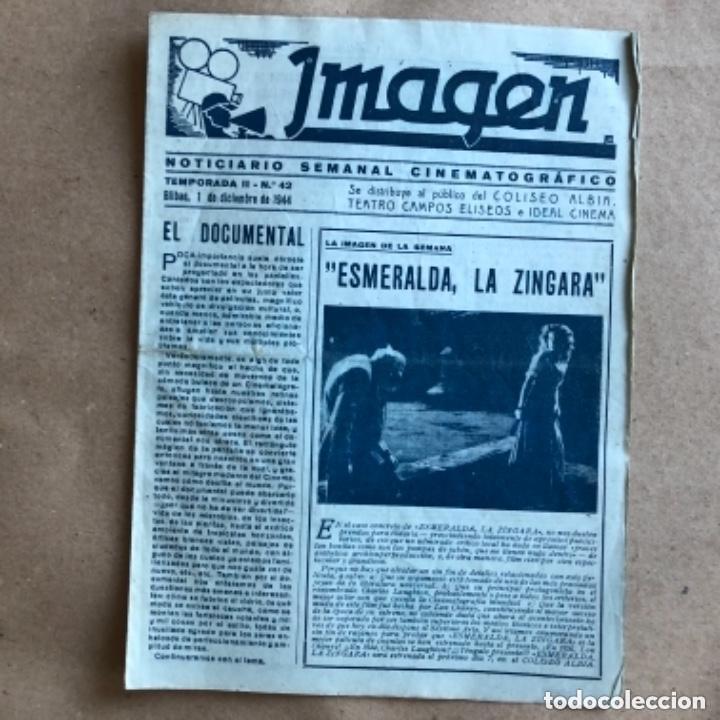 Cine: IMAGEN, NOTICIARIO SEMANAL CINEMATOGRÁFICO (AÑOS 40, BILBAO). LOTE DE 24 NÚMEROS. - Foto 13 - 135806454