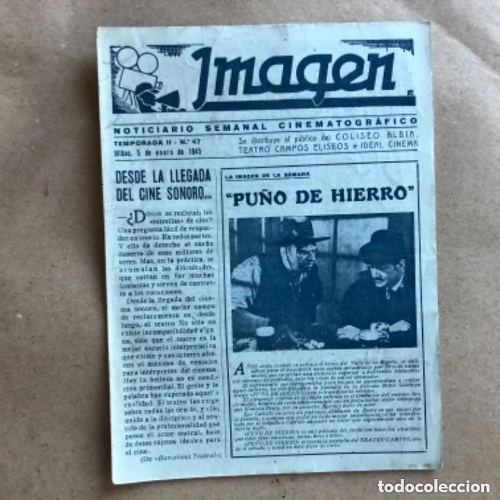 Cine: IMAGEN, NOTICIARIO SEMANAL CINEMATOGRÁFICO (AÑOS 40, BILBAO). LOTE DE 24 NÚMEROS. - Foto 14 - 135806454
