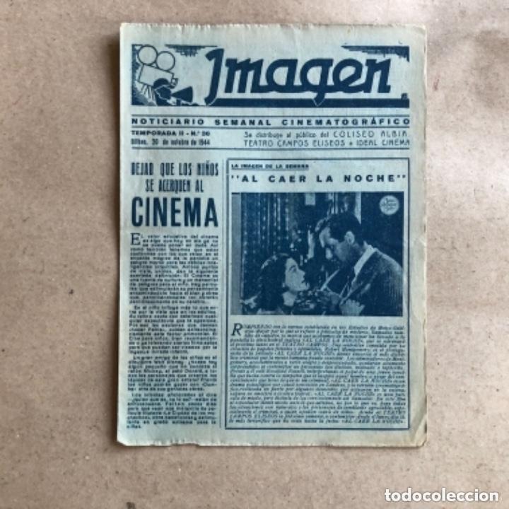 Cine: IMAGEN, NOTICIARIO SEMANAL CINEMATOGRÁFICO (AÑOS 40, BILBAO). LOTE DE 24 NÚMEROS. - Foto 15 - 135806454