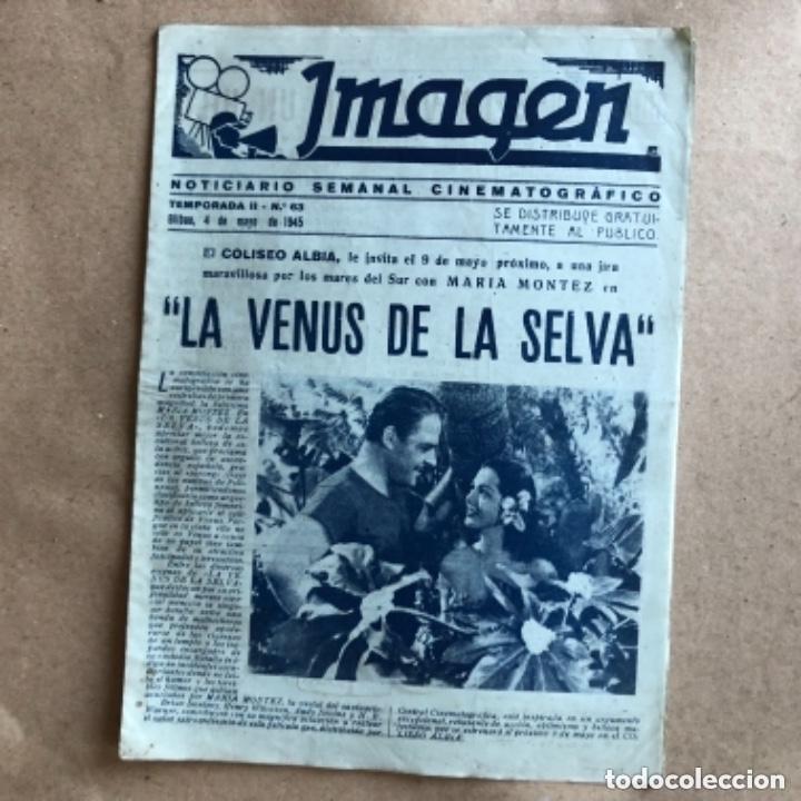 Cine: IMAGEN, NOTICIARIO SEMANAL CINEMATOGRÁFICO (AÑOS 40, BILBAO). LOTE DE 24 NÚMEROS. - Foto 16 - 135806454
