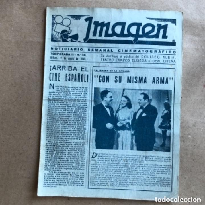 Cine: IMAGEN, NOTICIARIO SEMANAL CINEMATOGRÁFICO (AÑOS 40, BILBAO). LOTE DE 24 NÚMEROS. - Foto 17 - 135806454