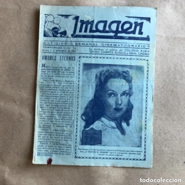 Cine: IMAGEN, NOTICIARIO SEMANAL CINEMATOGRÁFICO (AÑOS 40, BILBAO). LOTE DE 24 NÚMEROS. - Foto 20 - 135806454