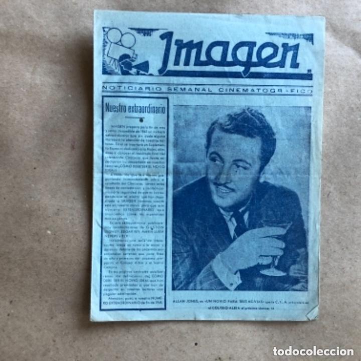 Cine: IMAGEN, NOTICIARIO SEMANAL CINEMATOGRÁFICO (AÑOS 40, BILBAO). LOTE DE 24 NÚMEROS. - Foto 21 - 135806454