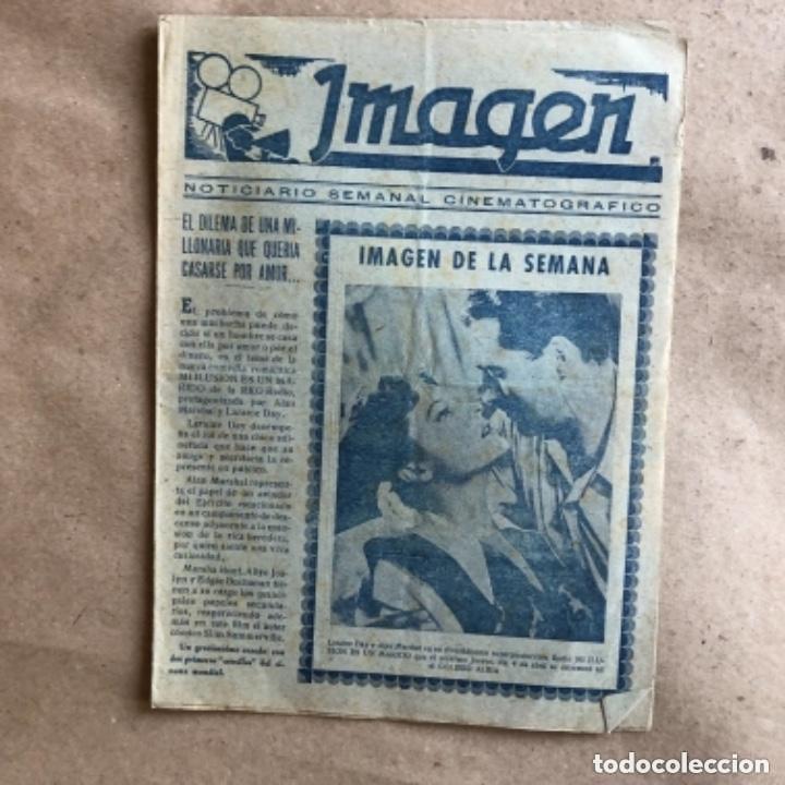 Cine: IMAGEN, NOTICIARIO SEMANAL CINEMATOGRÁFICO (AÑOS 40, BILBAO). LOTE DE 24 NÚMEROS. - Foto 25 - 135806454