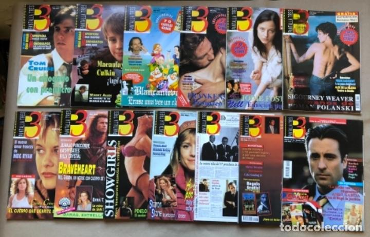 LOTE DE 13 REVISTAS, PANTALLA TRES 3. DESDE 1993 A 1996. (Cine - Revistas - Otros)