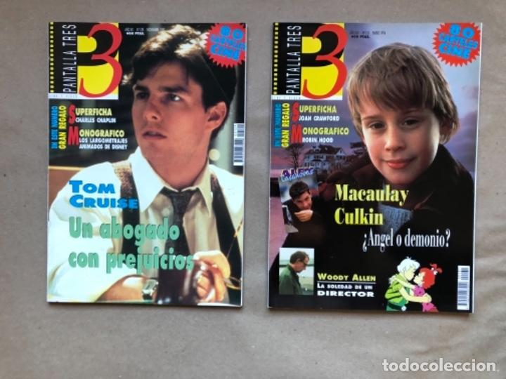 Cine: LOTE DE 13 REVISTAS, PANTALLA TRES 3. DESDE 1993 A 1996. - Foto 2 - 135817270