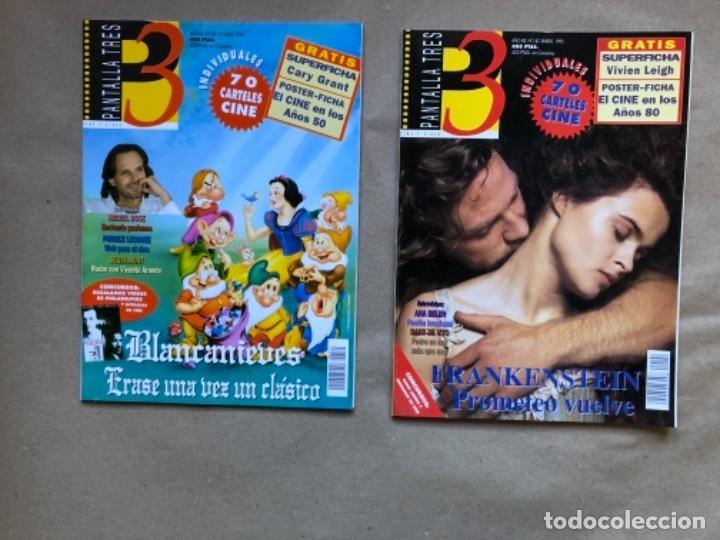 Cine: LOTE DE 13 REVISTAS, PANTALLA TRES 3. DESDE 1993 A 1996. - Foto 3 - 135817270