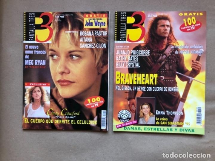 Cine: LOTE DE 13 REVISTAS, PANTALLA TRES 3. DESDE 1993 A 1996. - Foto 5 - 135817270