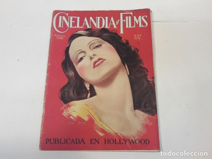 REVISTA CINELANDIA Y FILMS. FEBRERO DE 1929. (Cine - Revistas - Cinelandia)