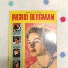 Cine: ANTIGUA REVISTA PARA MAYORES COLECCIÓN CINECOLOR CON INGRID BERGMAN (AÑO 1958). Lote 135945542