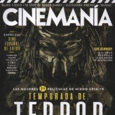 Cine: CINEMANIA N. 276 SEPTIEMBRE 2018 - EN PORTADA: LAS 19 MEJORES PELICULAS DE MIEDO 2018/2019 (NUEVA). Lote 136242174