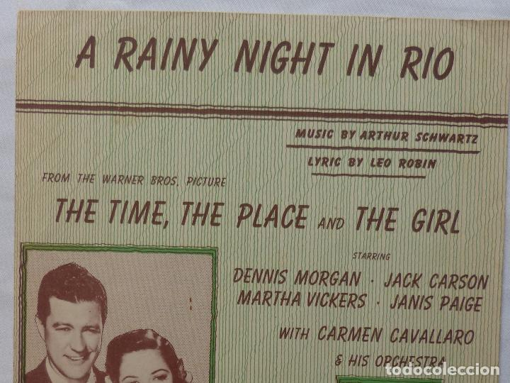 Cine: THE TIME, THE PLACE & THE GIRL partitura 46 Dennis Morgan & Jack Carson, A Rainy Night In Rio! - Foto 2 - 136806210