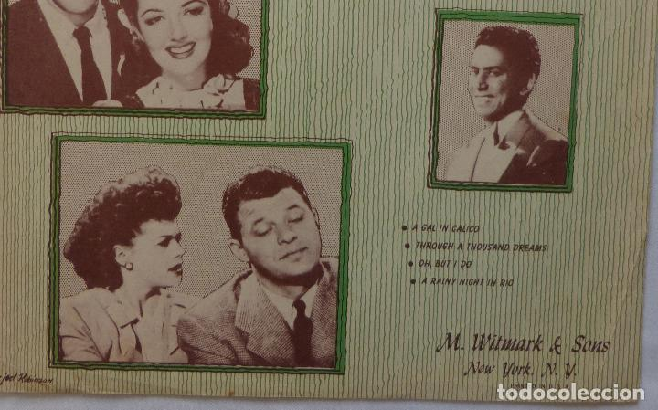 Cine: THE TIME, THE PLACE & THE GIRL partitura 46 Dennis Morgan & Jack Carson, A Rainy Night In Rio! - Foto 4 - 136806210