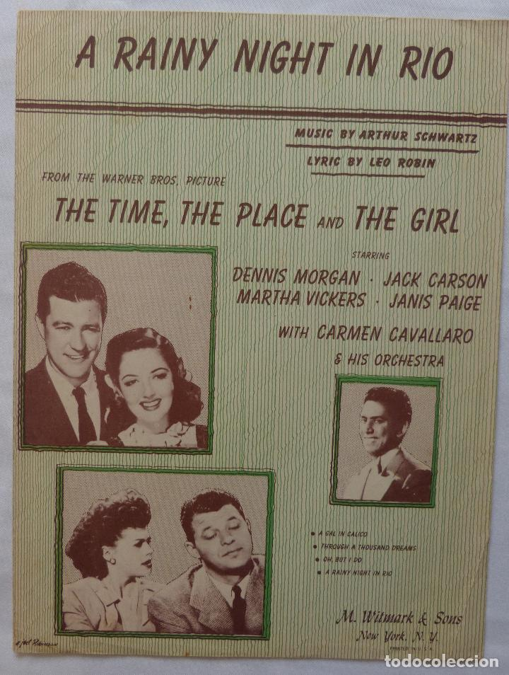 Cine: THE TIME, THE PLACE & THE GIRL partitura 46 Dennis Morgan & Jack Carson, A Rainy Night In Rio! - Foto 6 - 136806210