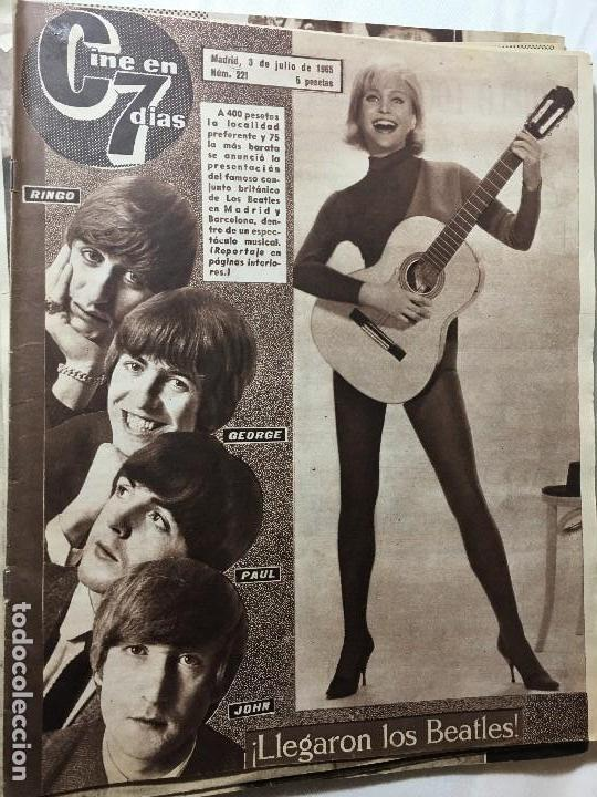 RA4 ANTIGUA REVISTA CINE EN 7 DIAS 221 AÑO 1965 LLEGARON LOS BEATLES (Cine - Revistas - Cine en 7 dias)