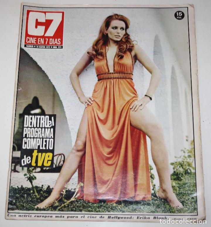 CINE 7 DIAS #571 ERIKA BLANK SHARON TATE POLANSKI SARA MONTIEL BARBARA BOUCHET BEATLES REVISTA (Cine - Revistas - Cine en 7 dias)