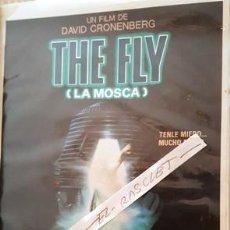 Cine: CARTEL PROMOCION PELICULA DE VIDEO - THE FLY - LA MOSCA - TAMAÑO FOLIO -. Lote 137910918