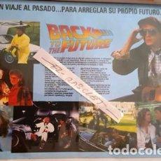 Cine: CARTEL PROMOCION PELICULA DE VIDEO - BACK TO THE FUTURE - TAMAÑO FOLIO -. Lote 137911314