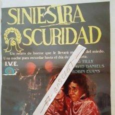 Cine: CARTEL PROMOCION PELICULA DE VIDEO - SINIESTRA SEGURIDAD - TAMAÑO FOLIO -. Lote 137911522