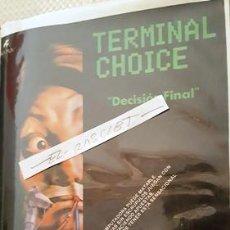 Cine: CARTEL PROMOCION PELICULA DE VIDEO - TERMINAL CHOICE - TAMAÑO FOLIO -. Lote 137911634