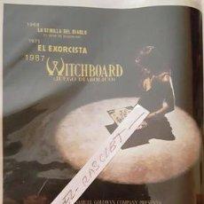 Cine: CARTEL PROMOCION PELICULA DE VIDEO - WITCHBOARD - TAMAÑO FOLIO -. Lote 137912090