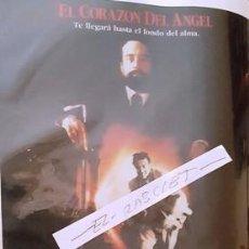 Cinema: CARTEL PROMOCION PELICULA DE VIDEO - EL CORAZON DEL ANGEL - TAMAÑO FOLIO -. Lote 137912138