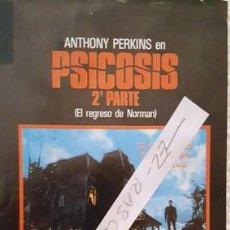 Cine: CARTEL PROMOCION PELICULA DE VIDEO - PSICOSIS - 2º PARTE - TAMAÑO MEDIO FOLIO -. Lote 137912802
