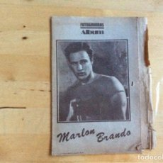 Cine: MARLON BRANDO ALBUM FOTOGRAMAS . Lote 138190706