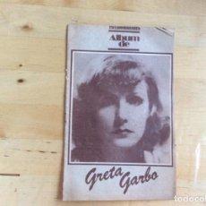 Cine: GRETA GARBO ALBUM FOTOGRAMAS . Lote 138213246