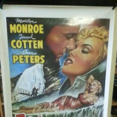 Cinema: NIAGARA ( MARILYN MONROE ) (REPRODUCCIÓN) 100CM X 70CM. Lote 179527272