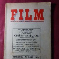 Cine: CINE REVISTA FRANCESA 1957 NÚMERO 1. Lote 138640906
