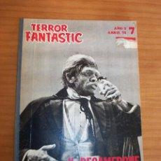 Cine: TERROR FANTÁSTICO - NÚMEROS 7-8-9-10-11 Y 12 - AÑO 1972 - BUEN ESTADO. Lote 138886046