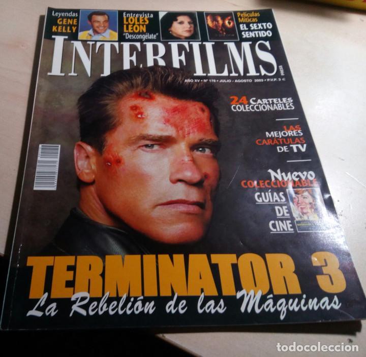 TERMINATOR 3.EL SEXTO SENTIDO.LOLES LEON.GENE KELLY.EL EMBRUJO DEL SUR.MINGOTE.INTERFILMS Nº 176 (Cine - Revistas - Interfilms)
